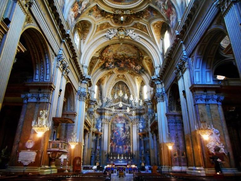 Interior (1702-1714) of Santi Apostoli Church in Rome©Carlo Raso:Flickr