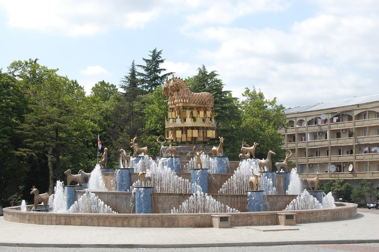 Fountain dedicated to the myth of Argonauts and the Golden Fleece