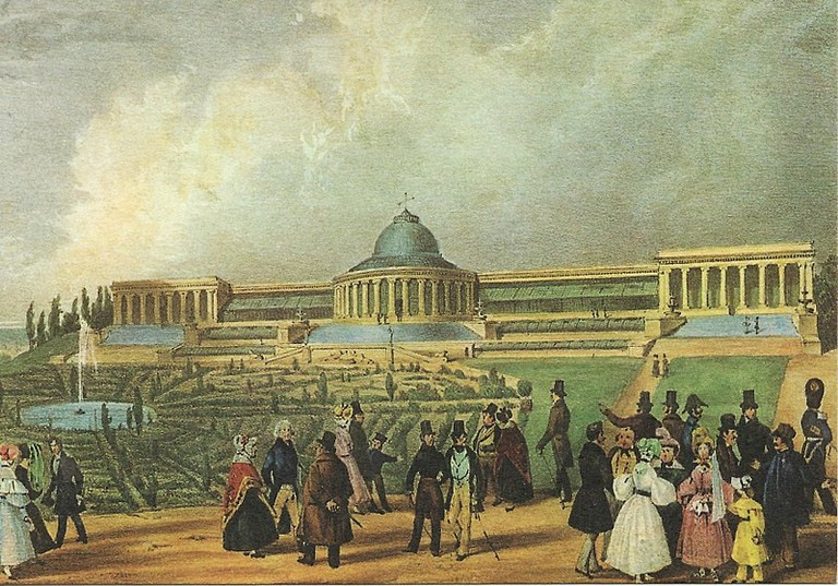 Le Botanique painted by Henri Borremans between 1829 and 1860