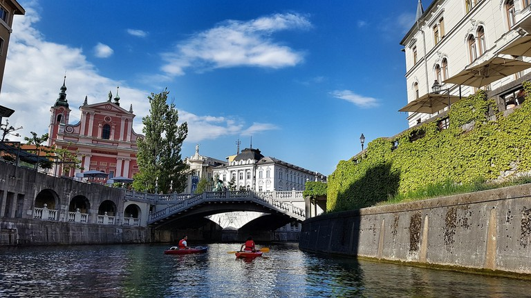 Kayak or SUP to see Ljubljana from the water.