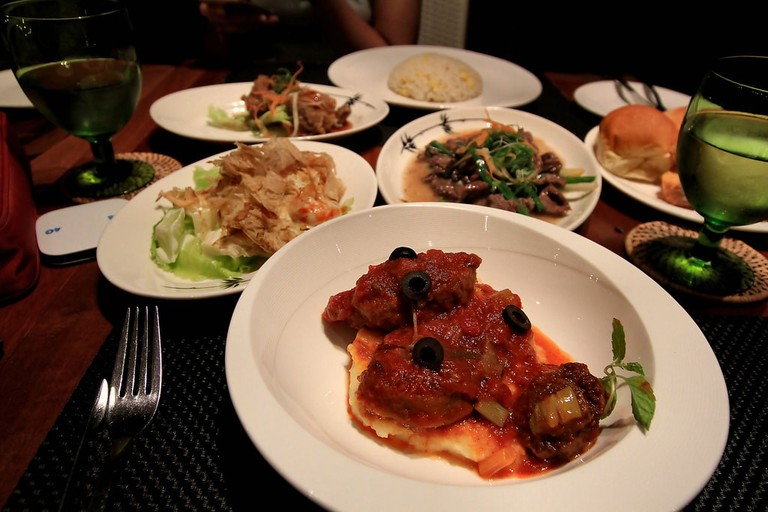 Local comfort food at Gaya Island Resort