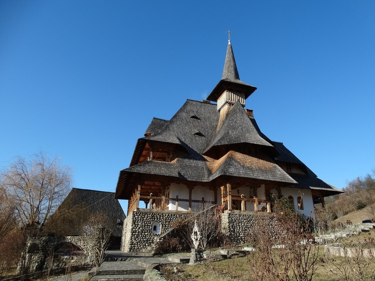 Wooden architecture in the Maramures region, Romania.