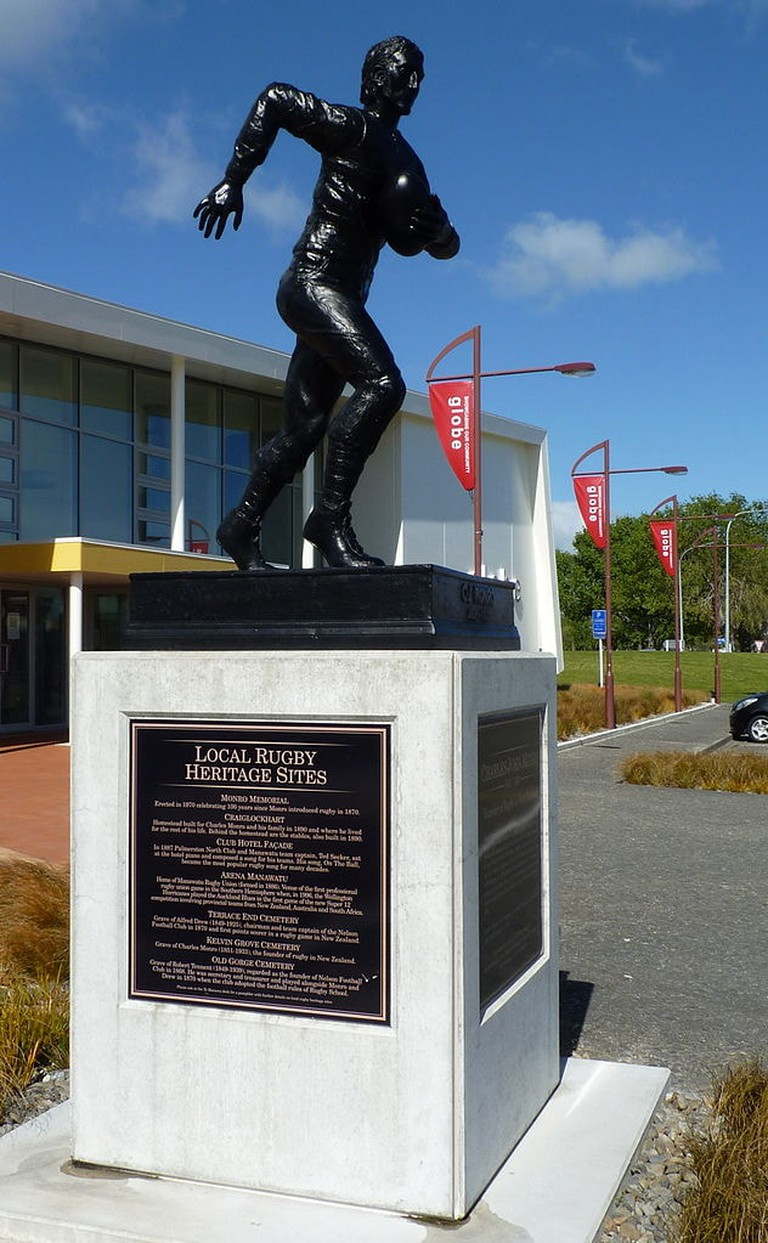 Memorial Statue of Charles Monro at the New Zealand Rugby Museum