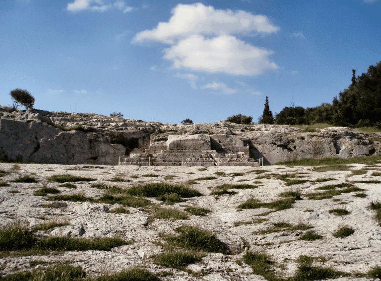 Pnyx hill, Athens. Pnyx was used for popular assemblies in Athens as early as 507 BC, when the reforms of Cleisthenes transferred political power to the citizenry
