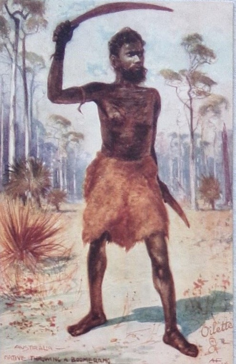 Postcard of an Indigenous Australian | © Aussie mobs/Flickr
