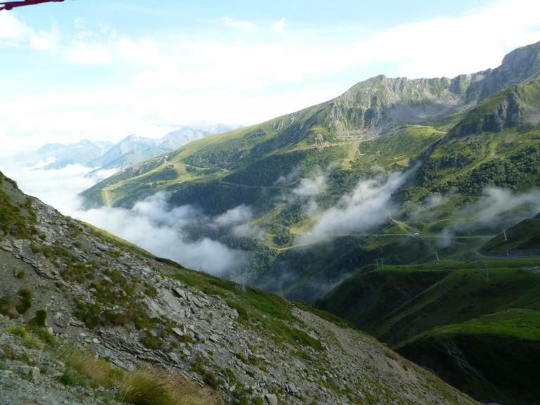 The Pyrenees mountain range