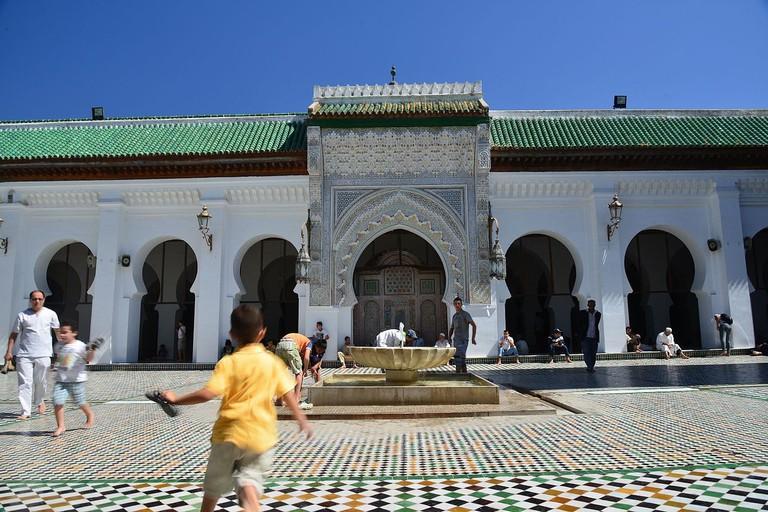 """<a href = """"https://commons.wikimedia.org/wiki/File:Quaraouiyine,Fèz_Morroco_.jpg""""> Quaraouiyine Mosque"""