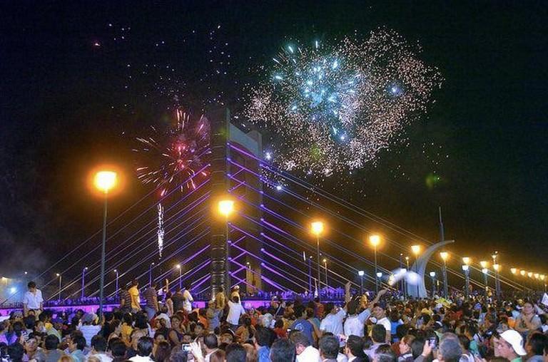 New Year's Eve Fireworks in Quevado, Ecuador