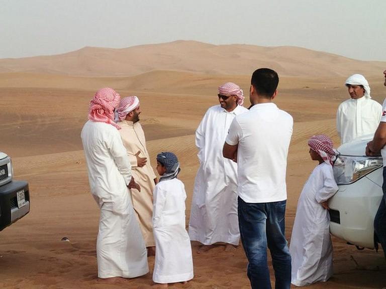 Local Emirati men