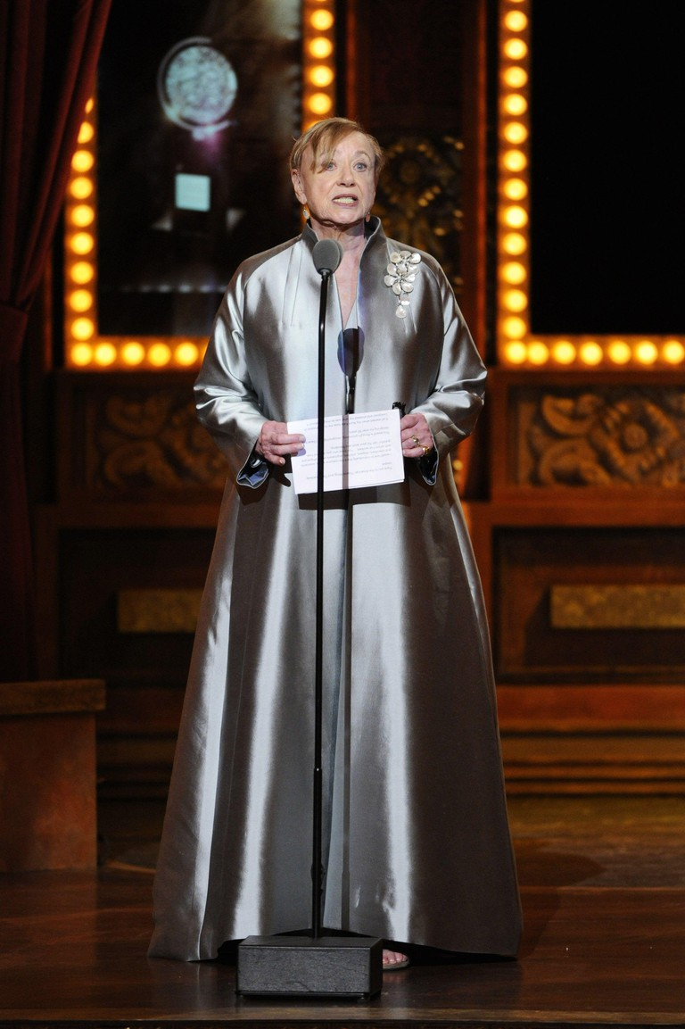 Jane Greenwood accepts the award for Lifetime Achievement in the Theater at the 68th annual Tony Awards