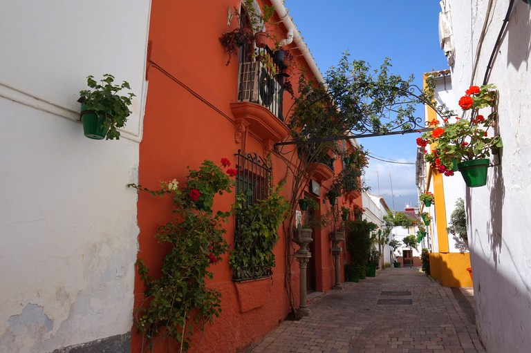 A typical old street in Estepona's old town; courtesy of Encar Novillo