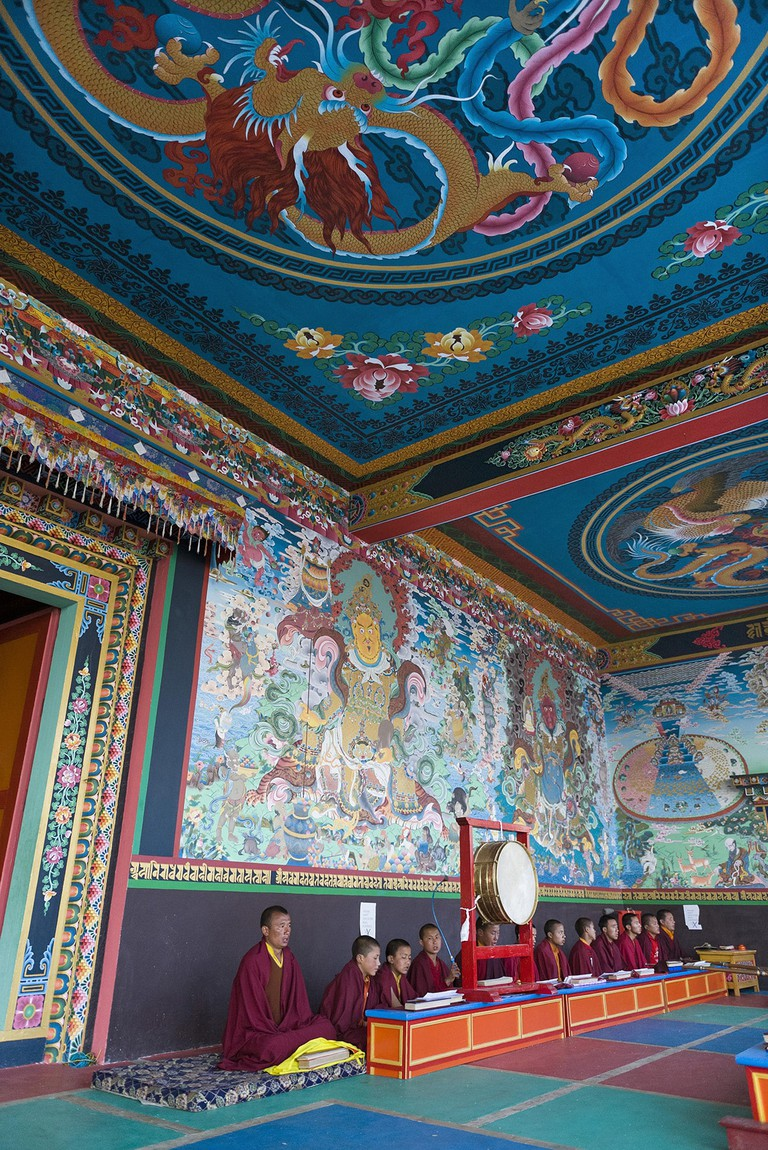 The colourful mural art in Tawang Monastery is spell binding