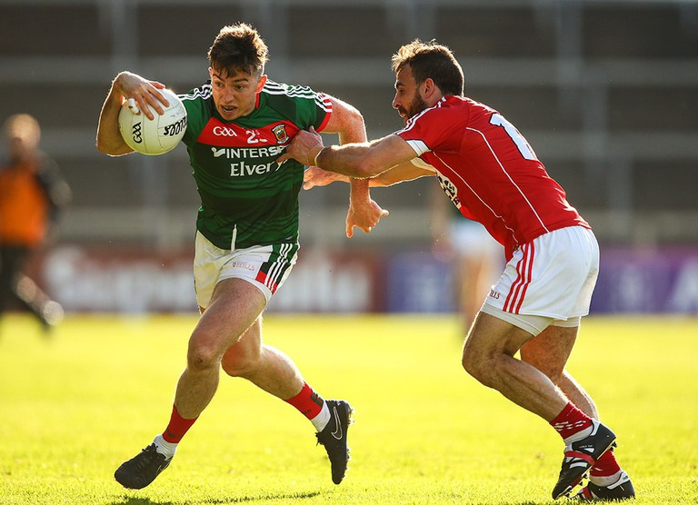 Cork vs Mayo in a Gaelic football match | © Cathal Noonan/INPHO/REX/Shutterstock