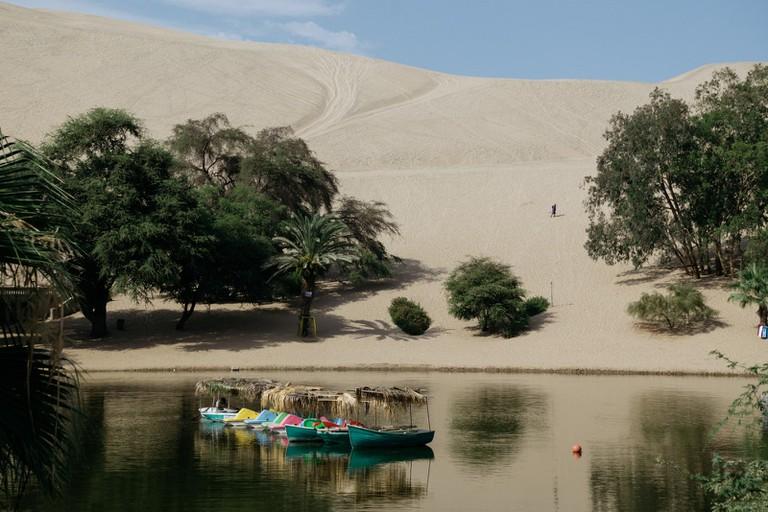 Huacachina's oasis