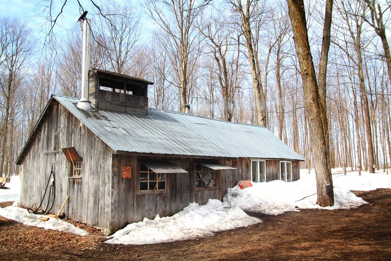 Sugar shack in Quebec, Canada