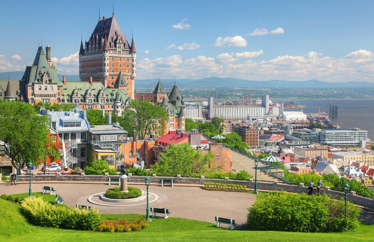 Chateau Frontenac in the Old Quebec City