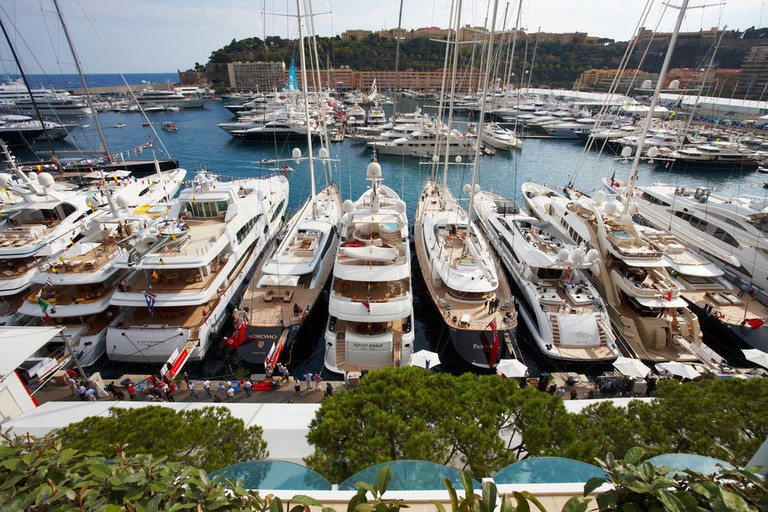 Mega yachts lined up in Monaco | © Drozdin Vladimir/Shutterstock