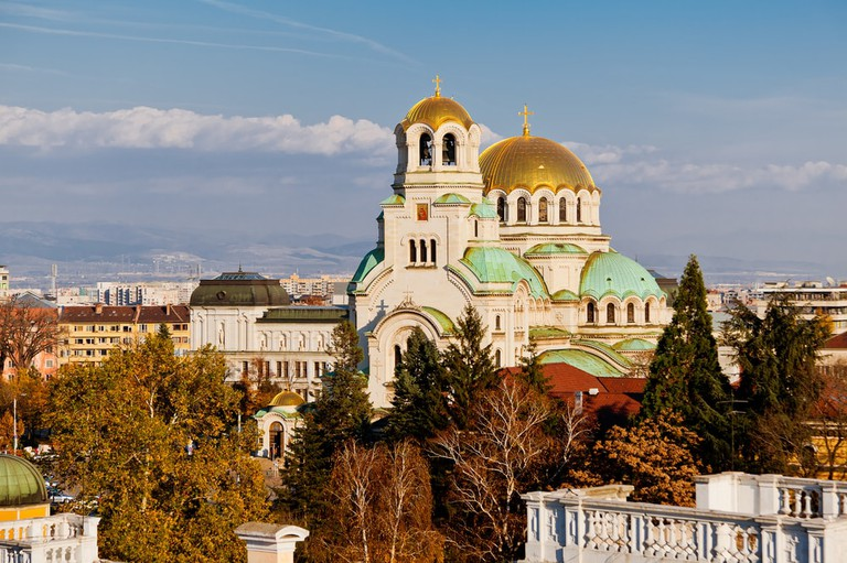 A view of golden domes st. Aleksander Nevski cathedral and downtown Sofia, Bulgaria | © VILevi/Shutterstock