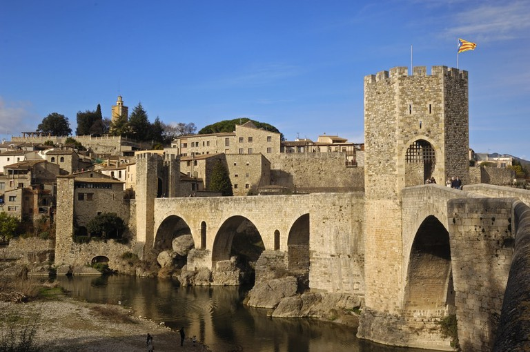 Medieval bridge of Besalú, Spain