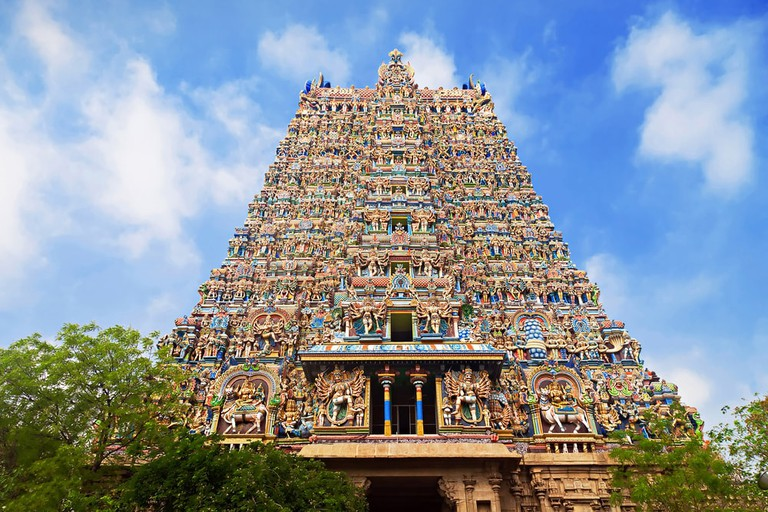 Madurai was designed around the Meenakshi Temple