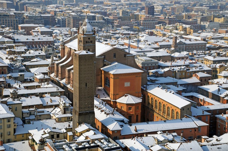 Bologna houses seen from the Asinelli tower, Emilia Romagna, Italy | © iladm/Shutterstock