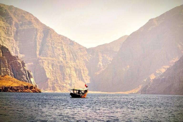 A Dhow in Musandam, Oman   © Bill Kret/Shutterstock