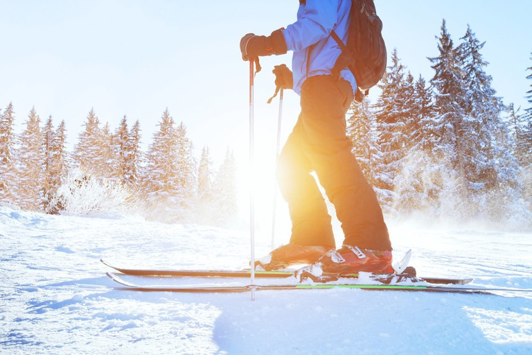 You can go skiing close to Madrid