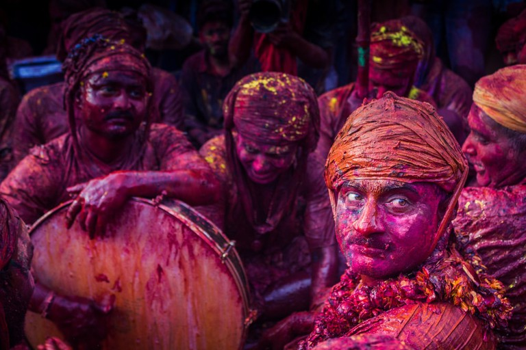Holi in Vrindavan, the birthplace of Lord Krishna