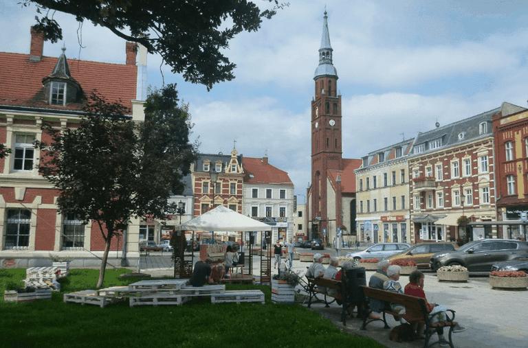 Starogard Gdański's Old Town square
