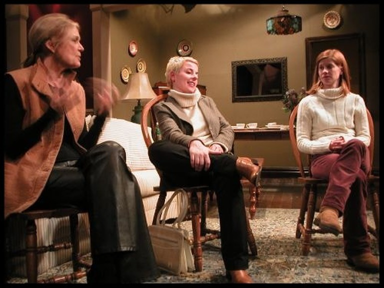Gloria Steinem, Winter Miller, Amanda Siegfried in The Penetration Play