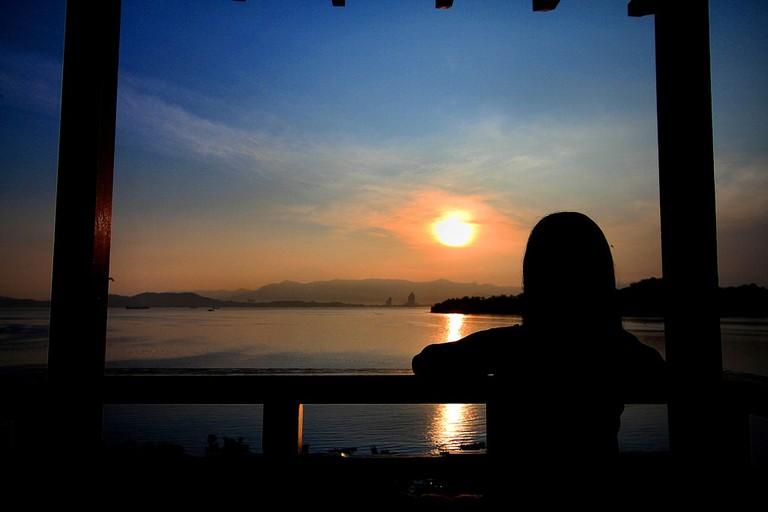 Sunset in Gaya Island