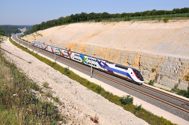French high-speed train │