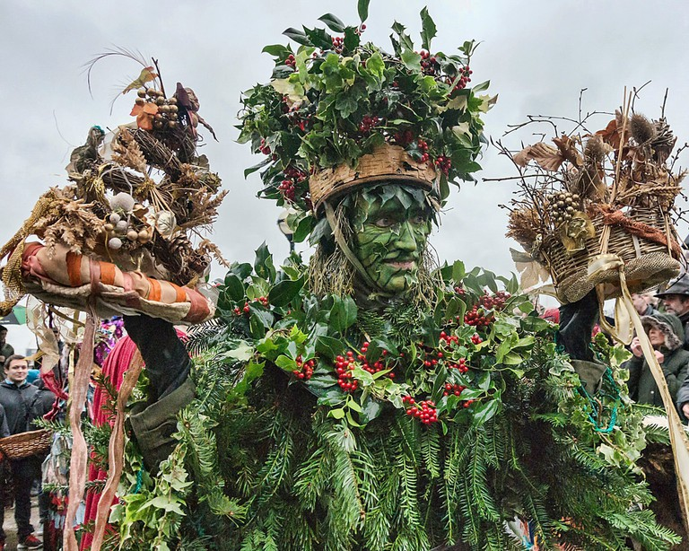 The Holly Man at the Twelfth Night celebrations, Bankside, 2016
