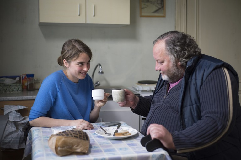 Adèle Haenel and Jean-Michel Balthazar in The Unknown Girl
