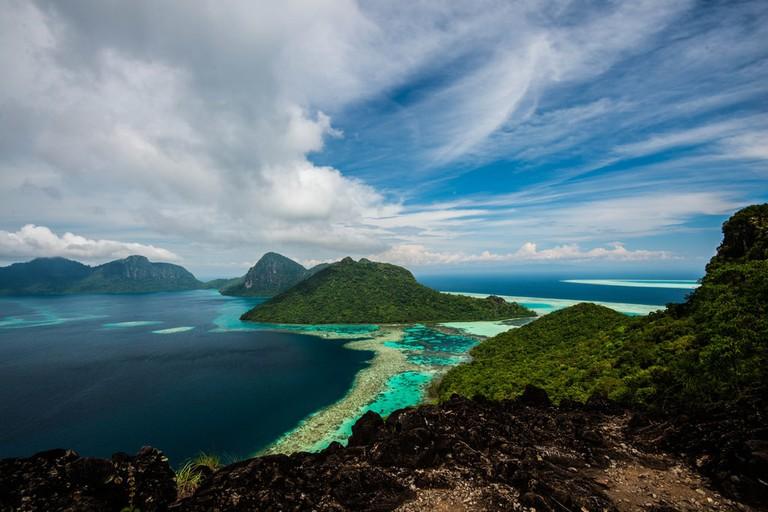 The viewpoint of Bohey Dulang Island