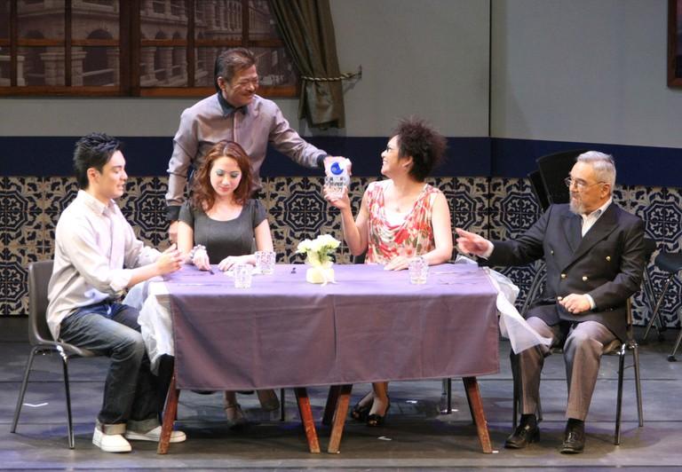 """Local drama group 'Doci Papiaçam di Macau' are trying to preserve Macanese Patois (Patuá) which has been recognised by UNESCO as a """"critically endangered"""" language. Caption"""
