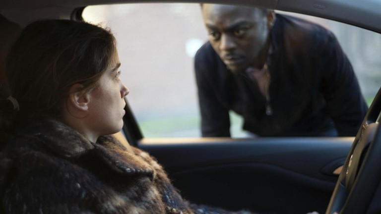 Adèle Haenel and Marc Zinga in The Unknown Girl