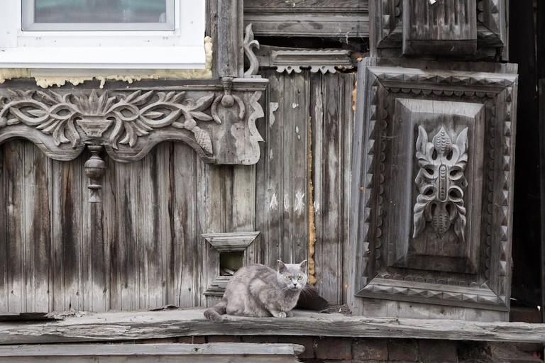 Window frames in Tomsk, Russia