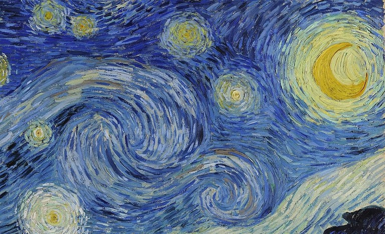 Vincent van Gogh, The Starry Night (detail highlighting the depiction of turbulence)