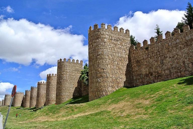 The medieval walls of Ávila, Spain