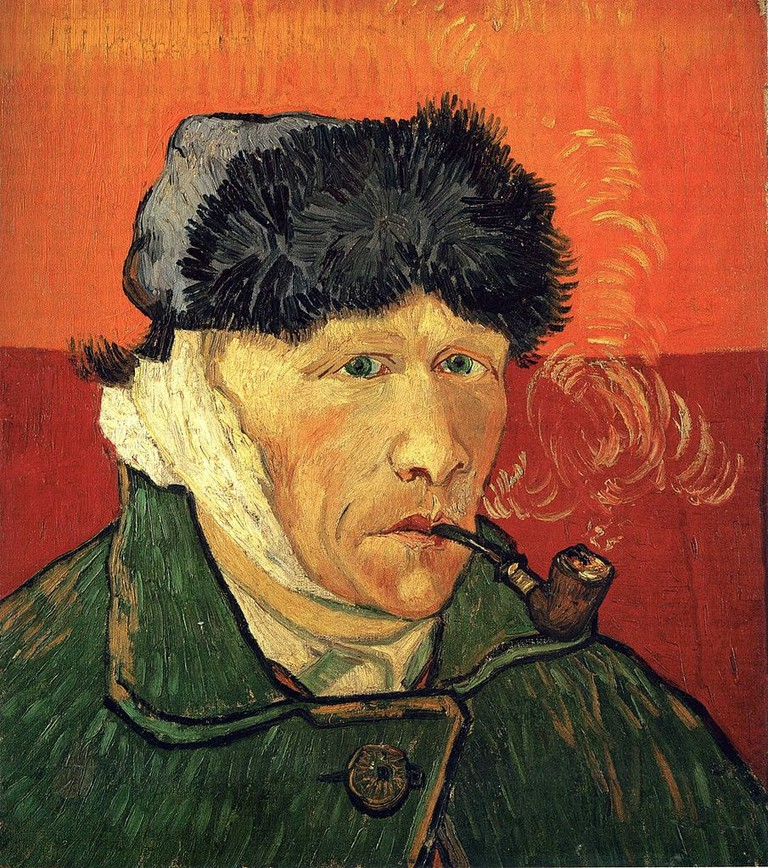 Vincent van Gogh, Self-portrait with Bandaged Ear and Pipe (1889) | Via WikiCommons