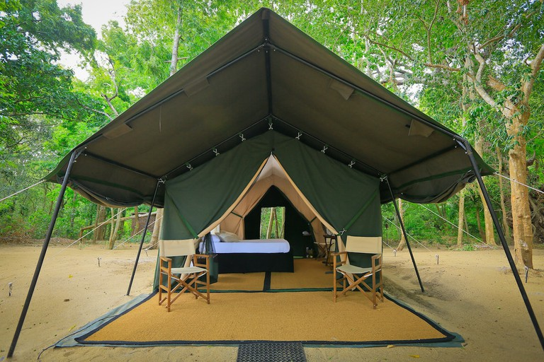 * photo sourced with permission from Leopard Trails photo database * Campsite at Yala National Park