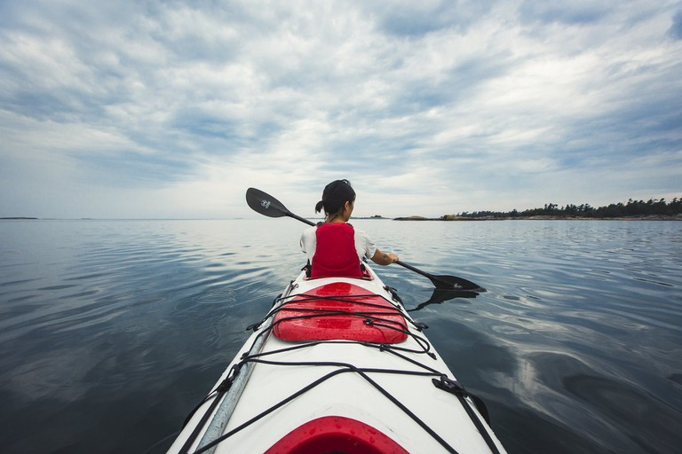 Kayaking in Georgian Bay