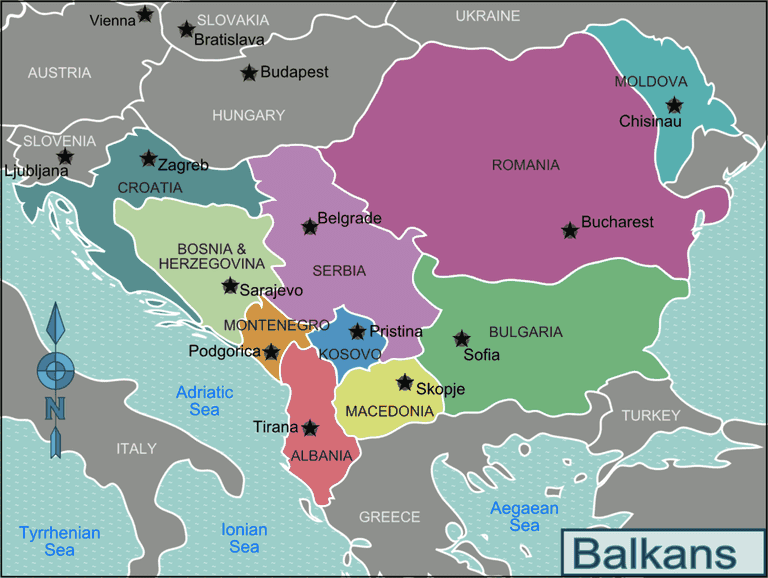 A map of the Balkans | © Peter Fitzgerald