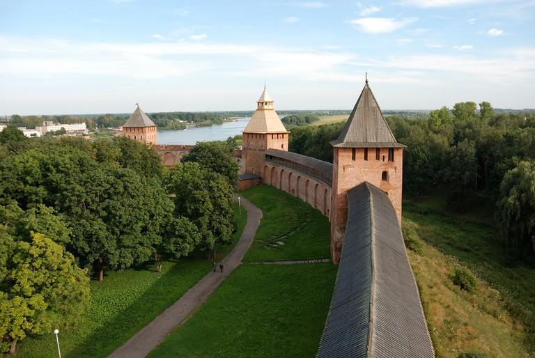 View from the Kokui tower of the Novgorod Kremlin