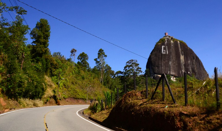 The road to the rock in Guatape