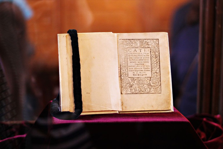 One of the two surviving copies of Mažvyda's Catechism