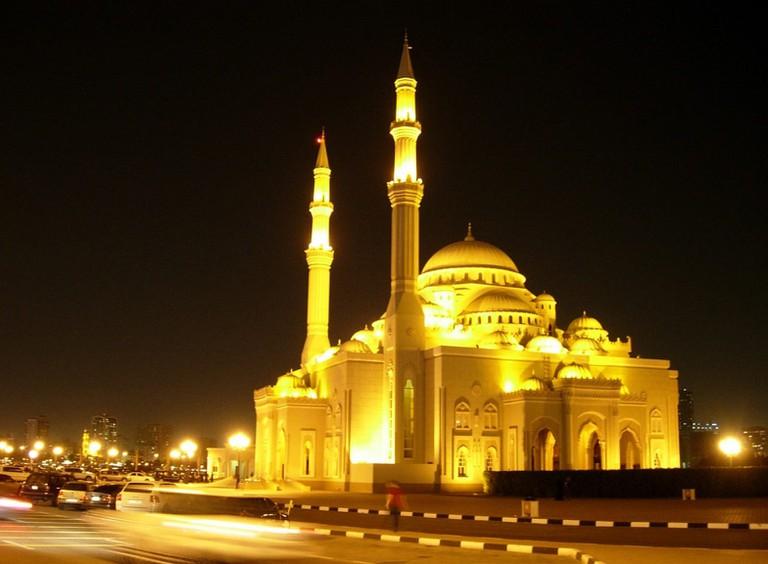 Sharjah at night