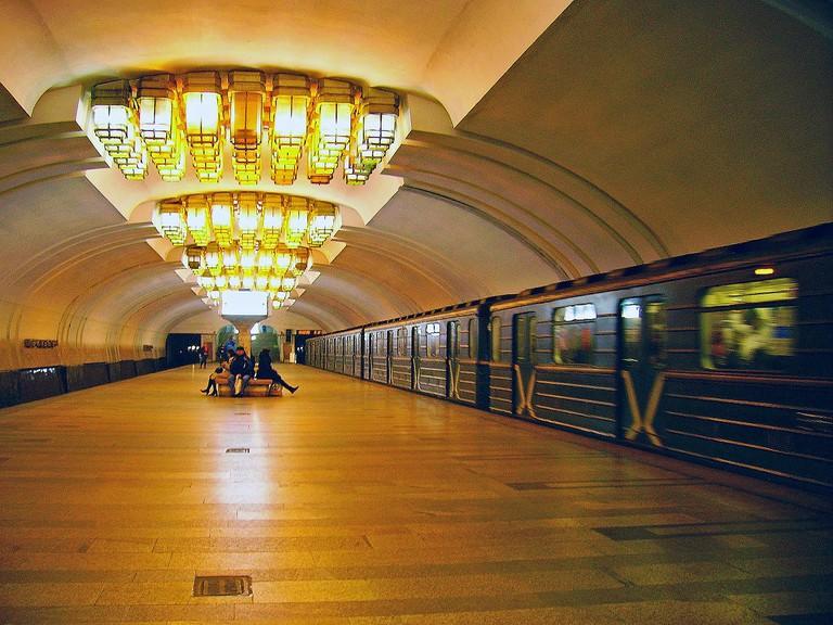 A Metro Station in Nizhny Novgorod