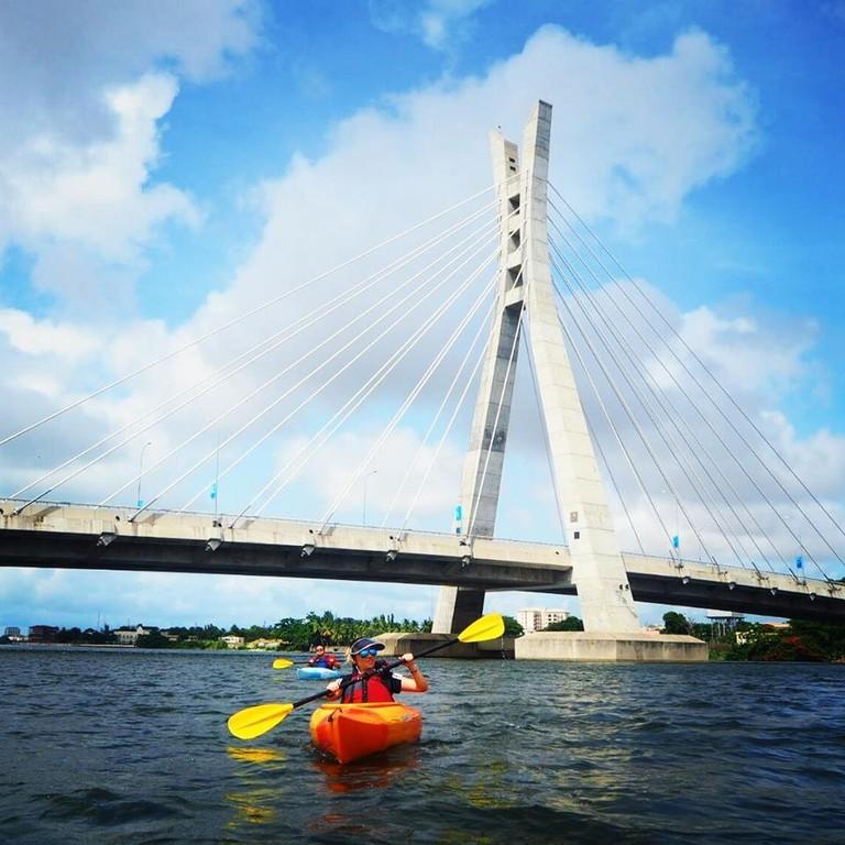 Kayaking to Ikoyi Bridge in Lagos